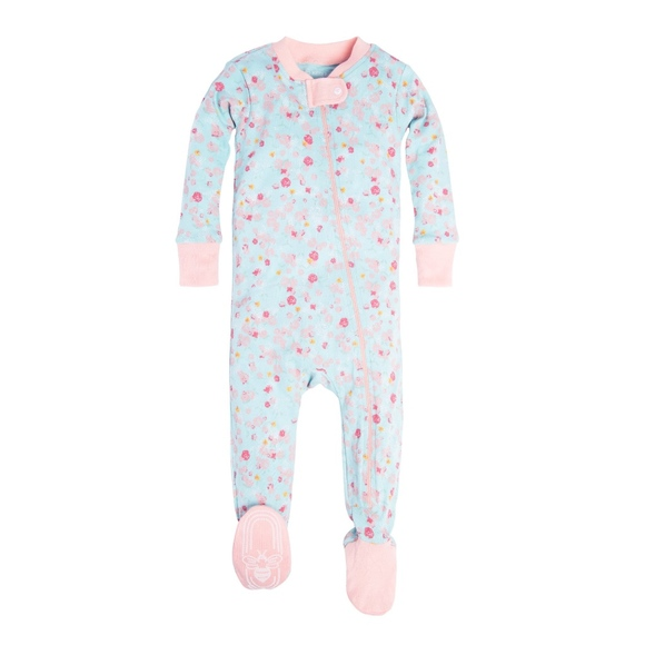44e4088f52 Organic Cotton Floral Baby Sleeper Boutique